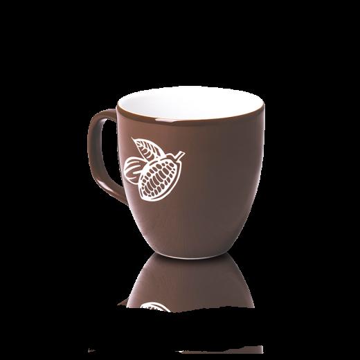 Krūze brūna (gravēta kakao pupiņa)